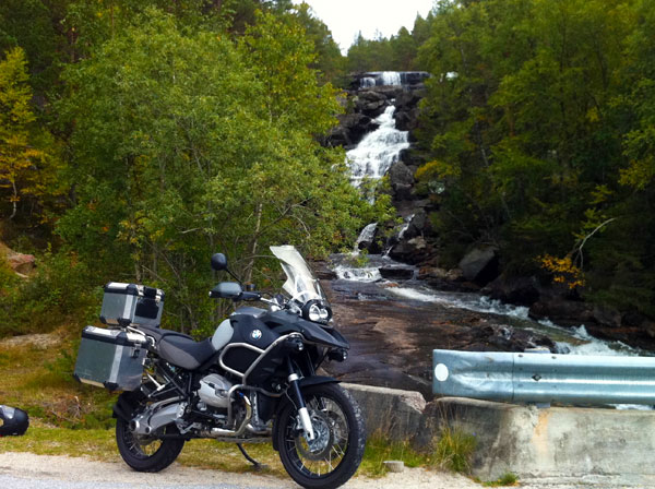 Beautiful bike in magnificent scenery near Dalen.