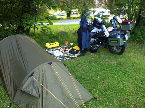 The camping ground in Dalen