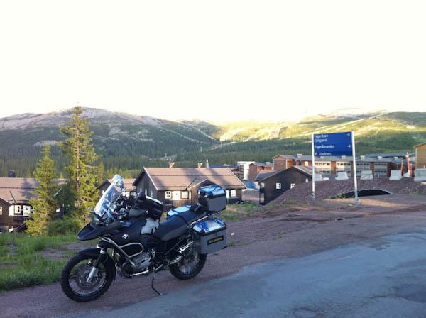 Dirt road riding near the Trysil ski resort