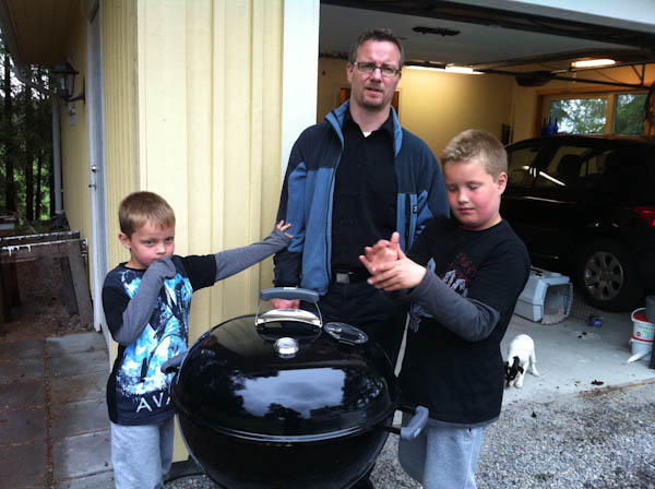 Finally there! My brother Tommy, Marius and Marcus (right)
