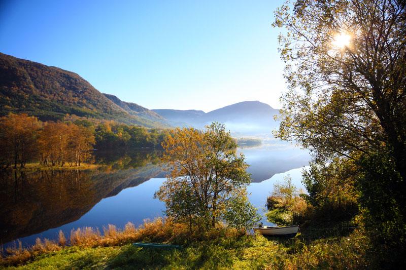 Autumn scenery at Vatsvatnet