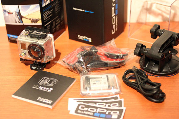 As with the GoPro HD HERO, I got the Motorsports bundle