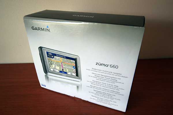 The Garmin zumo 660. I wonder what is in the box?