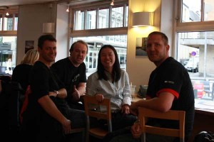 Aussie Reunion - Evan, Tommy, Sumie and myself