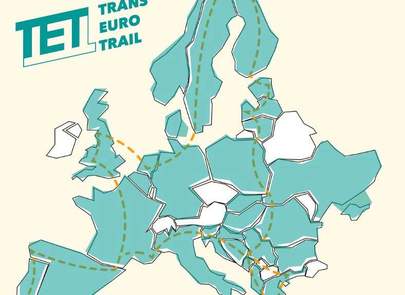 TET - Trans Euro Trail map