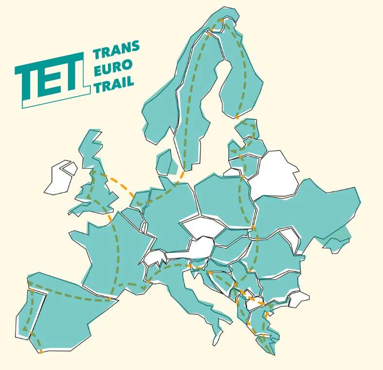TET - Trans Euro Trail map