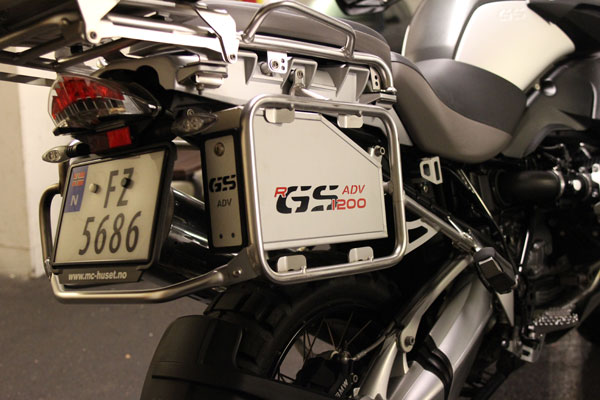The BMW GS Emotion aluminum case mounted on my bike