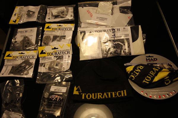 The long awaited order from Touratech arrived from Sweden after just a couple of days - sweet!