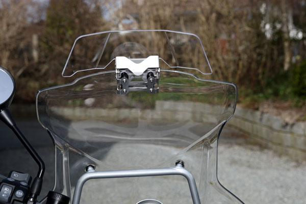 The Touratech Windscreen Spoiler in place